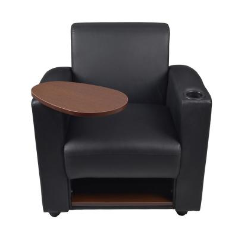 Nova Black and Java Tablet Arm Chair