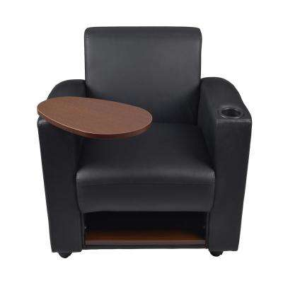 Nova Black and Java Tablet Arm Chair