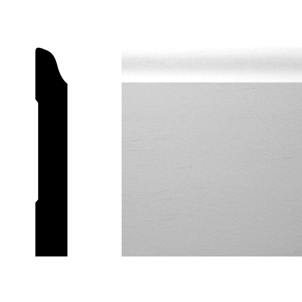 CMPC WM 662 9/16 in. x 3 1/2 in. x 144 in. Pine Primed Finger-Jointed Base Moulding Pro Pack 120 LF (10-Pieces)