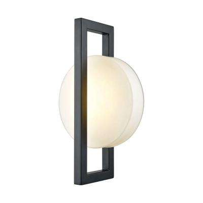 Zulle Matte Black Outdoor LED Wall Sconce