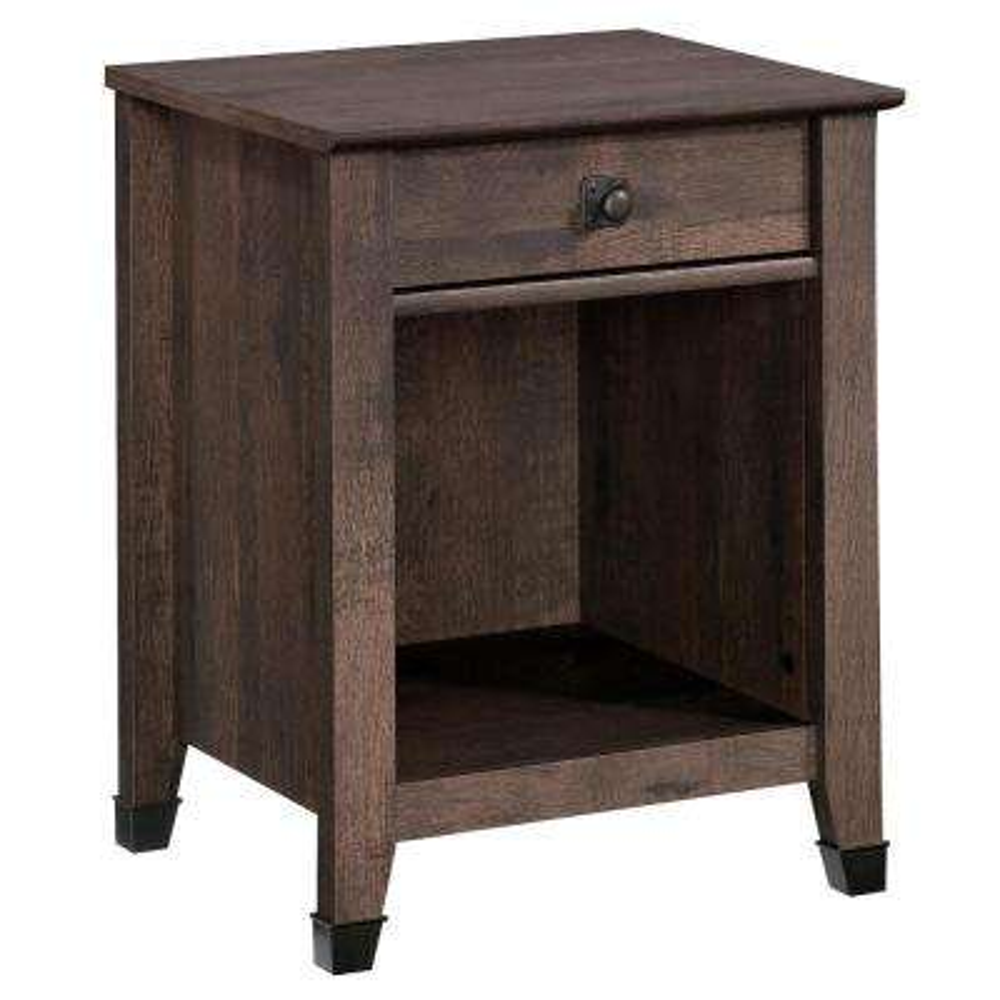 Carson Forge 1-Drawer Coffee Oak Nightstand