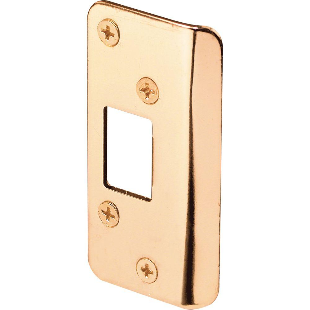 Prime-Line Brass Plated Continuous Lip Door Strike