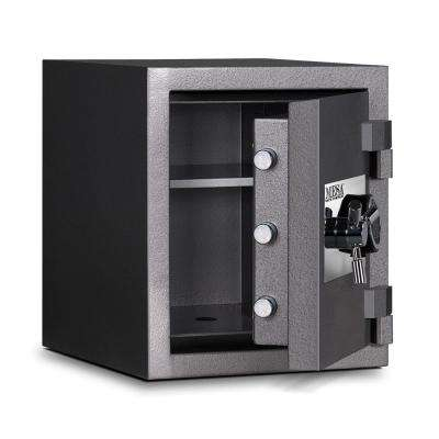 1.25 cu. ft. All Steel High Security Burglary Fire Safe with Electronic Lock, Silver
