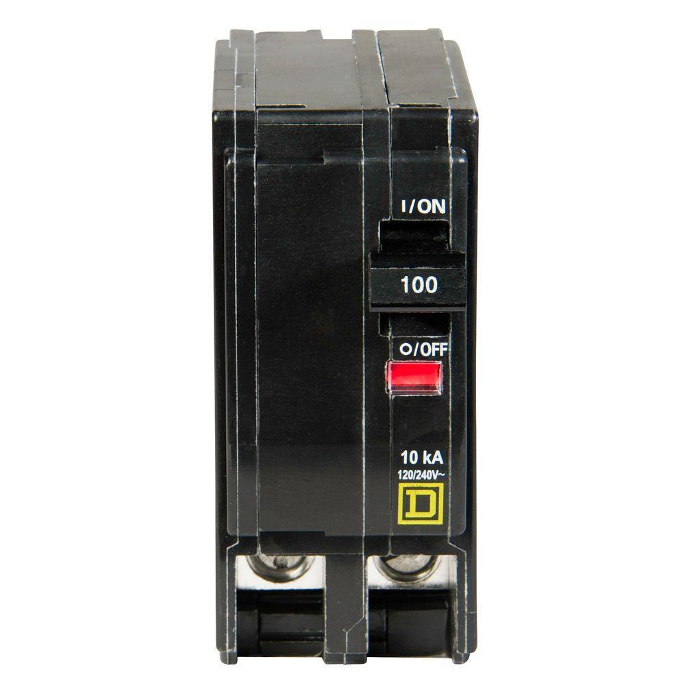 Square D QO 100 Amp 2-Pole Circuit Breaker-QO2100CP