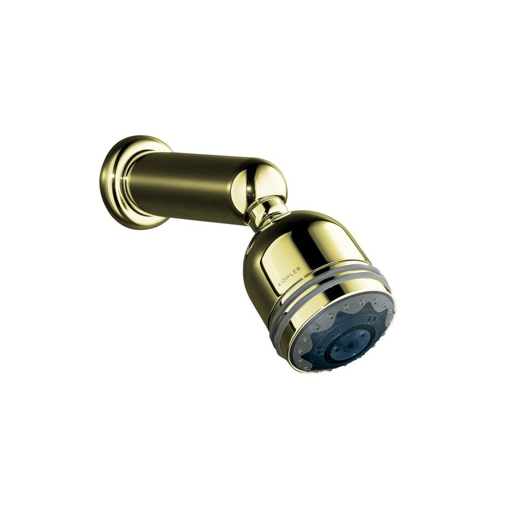 KOHLER MasterShower 2 7/8 in. 3-way Invigorating Showerhead in Vibrant French Gold-DISCONTINUED