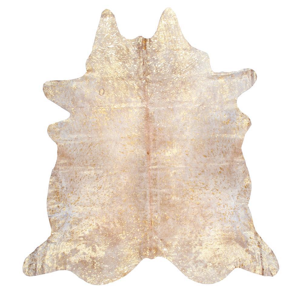 nuLOOM Dorian Cowhide Gold 5 ft. x 7 ft. Area Rug