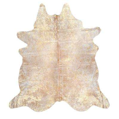 Dorian Cowhide Gold 5 ft. x 7 ft. Area Rug