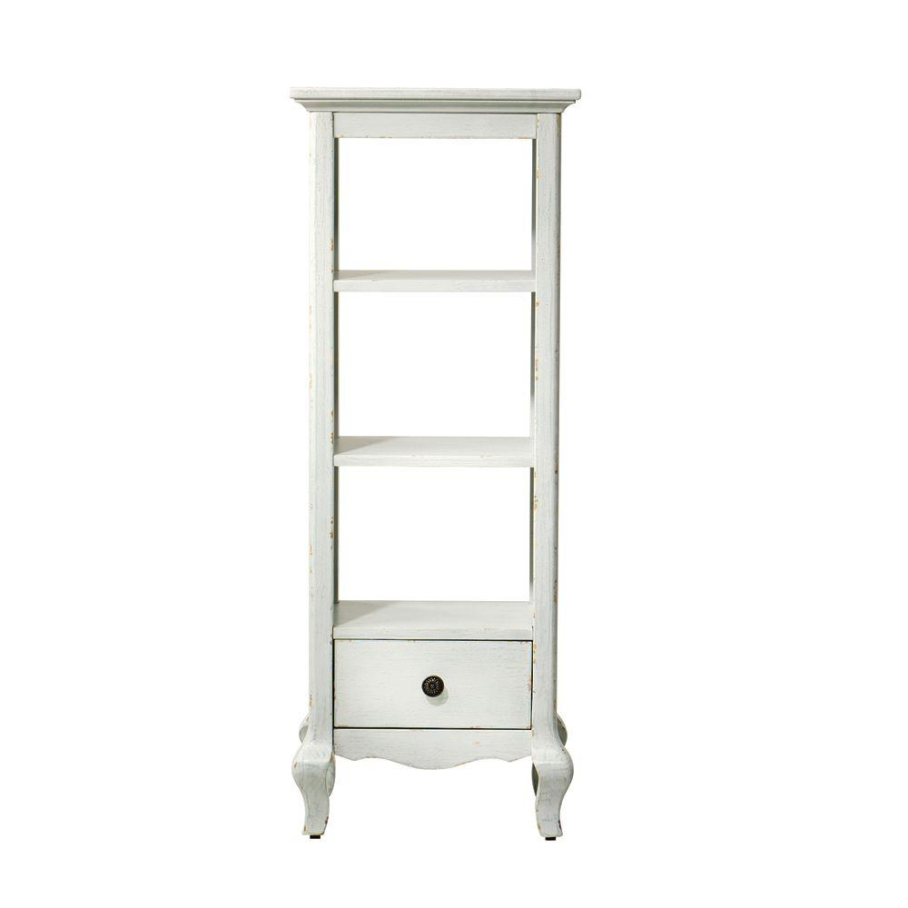 Home Decorators Collection Camille 16 in. W Storage with Drawer in Antique White