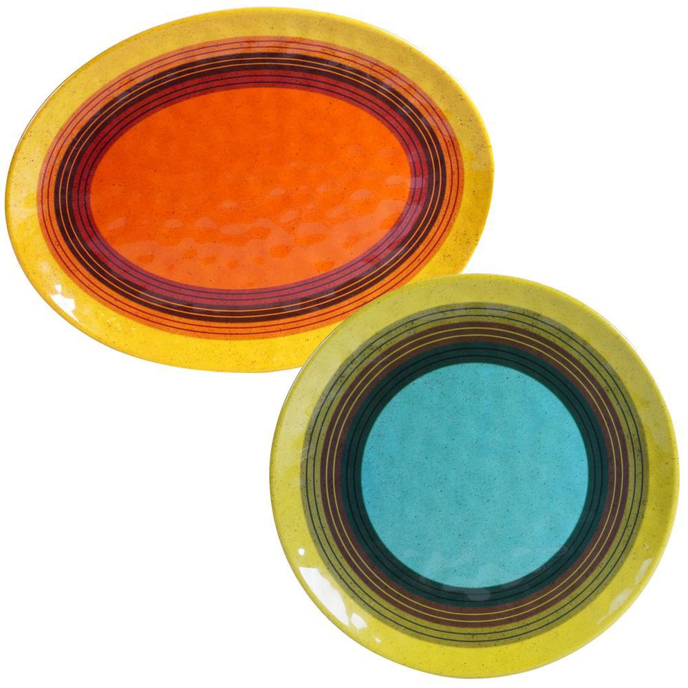 Sedona 2-Piece Assorted Platter Set