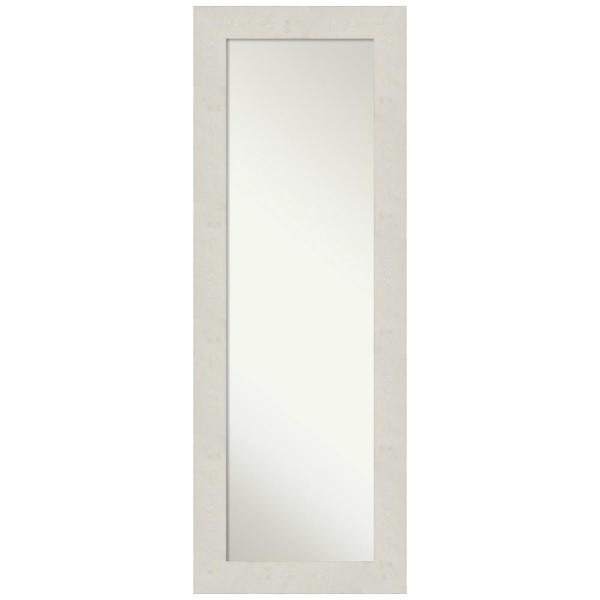 Large Rectangle Distressed CreamWhite Modern Mirror (53.38 in. H x 19.38 in. W)