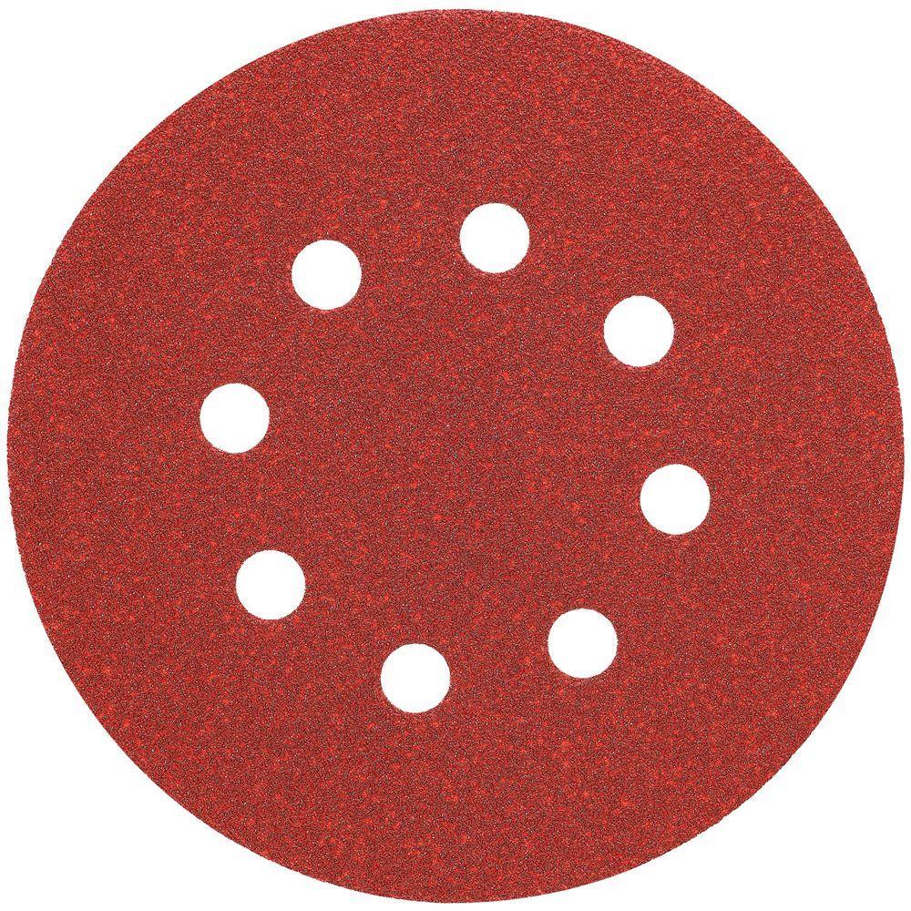 DEWALT 5 in. 8 Hole 80-Grit H and L Random Orbit Sandpaper (25-Pack)