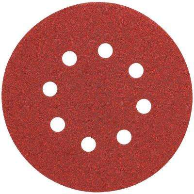 5 in. 8 Hole 80-Grit H and L Random Orbit Sandpaper (25-Pack)