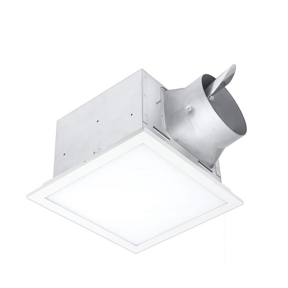 Signature Series 110 CFM Ceiling Bathroom Exhaust Fan with Edge-Lit LED, Adjustable Color Temperature, ENERGY STAR
