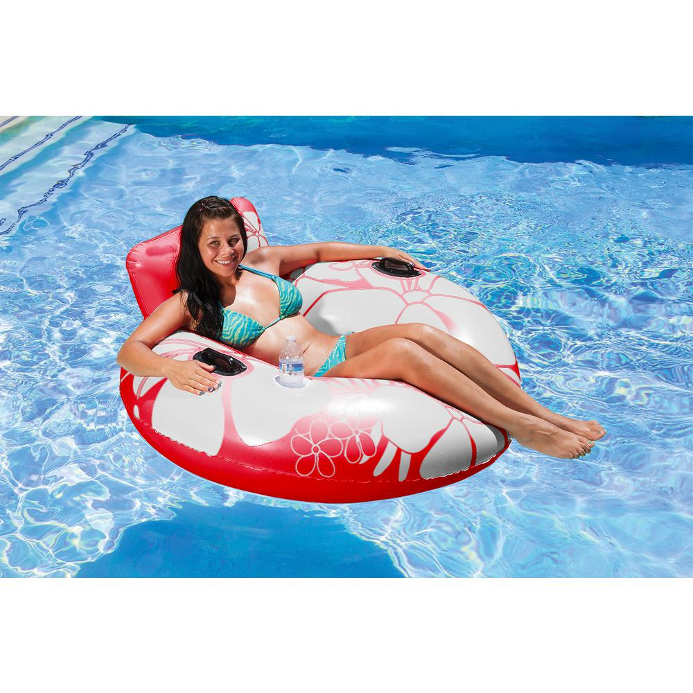 Poolmaster Red Day Dreamer Swimming Pool Float Lounge