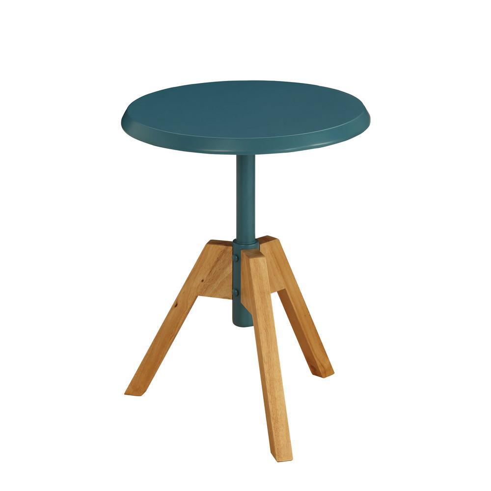 Lumina Natural and Teal End Table