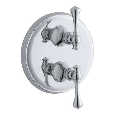 Revival 2-Handle Stacked Thermostatic Valve Trim Kit in Polished Chrome (Valve Not Included)