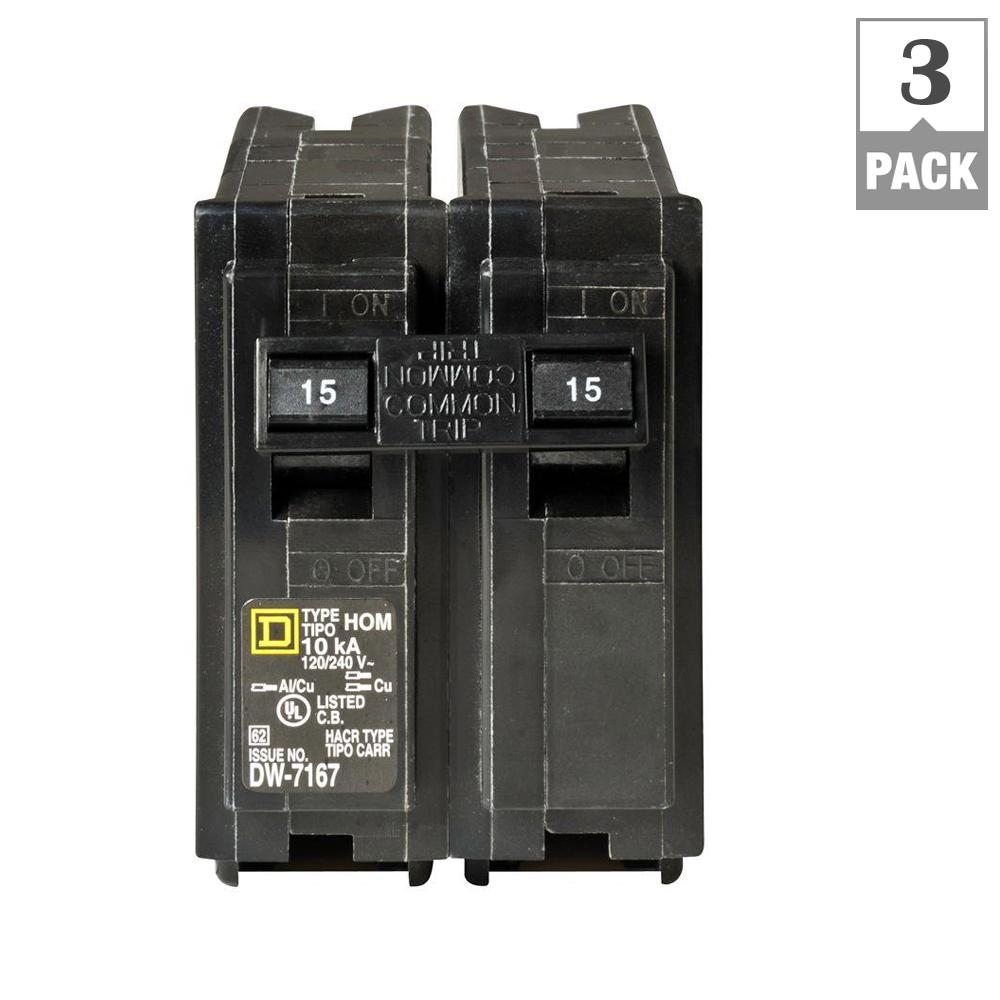 Square D Homeline 100 Amp 20 Space 40 Circuit Indoor Main Breaker 3 Phase Transformer Wiring Diagram 15 2 Pole Pack