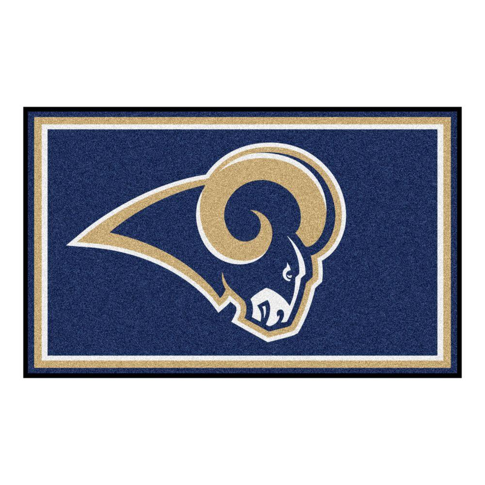FANMATS Los Angeles Rams 4 ft. x 6 ft. Area Rug