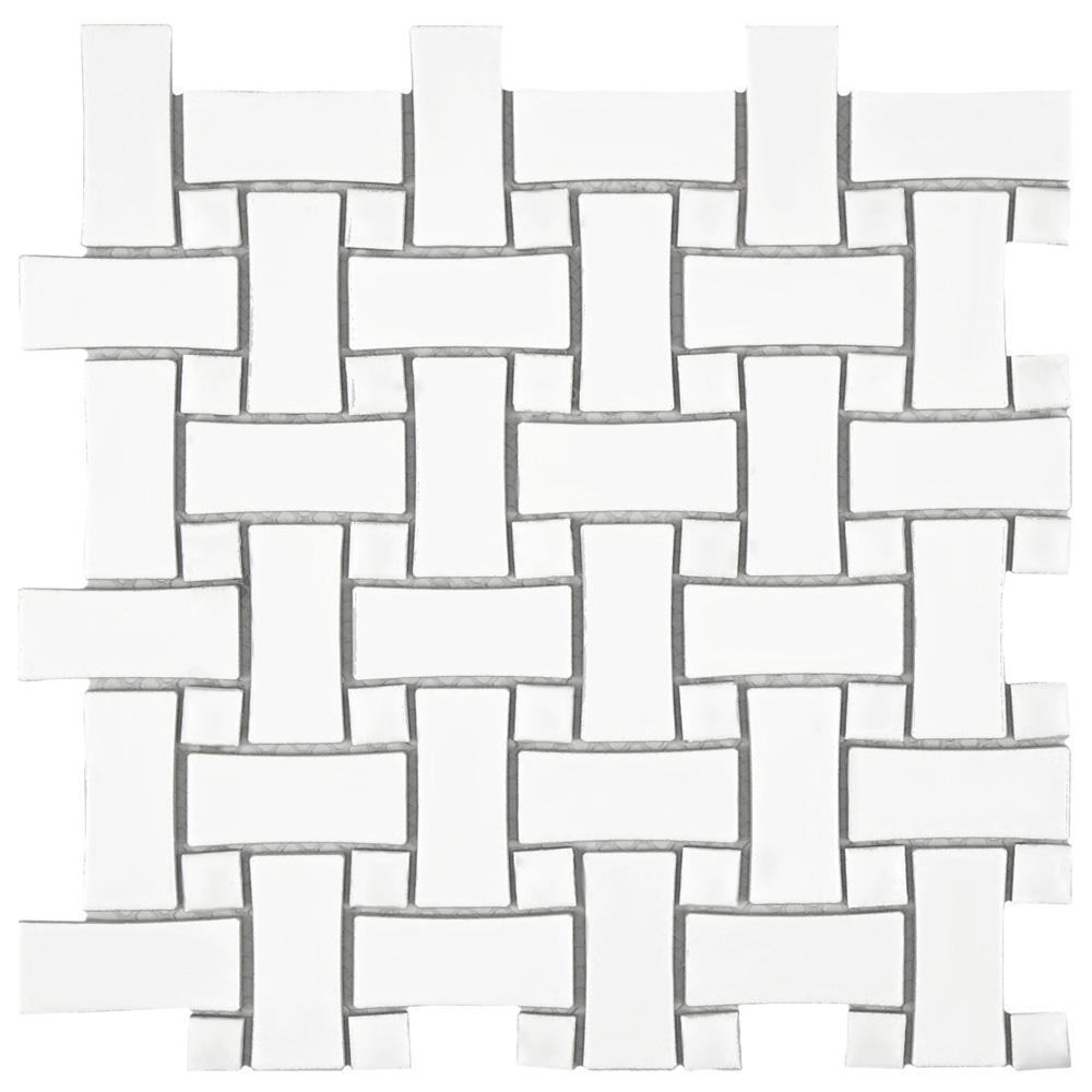 Basketweave Mosaic Tile Tile The Home Depot