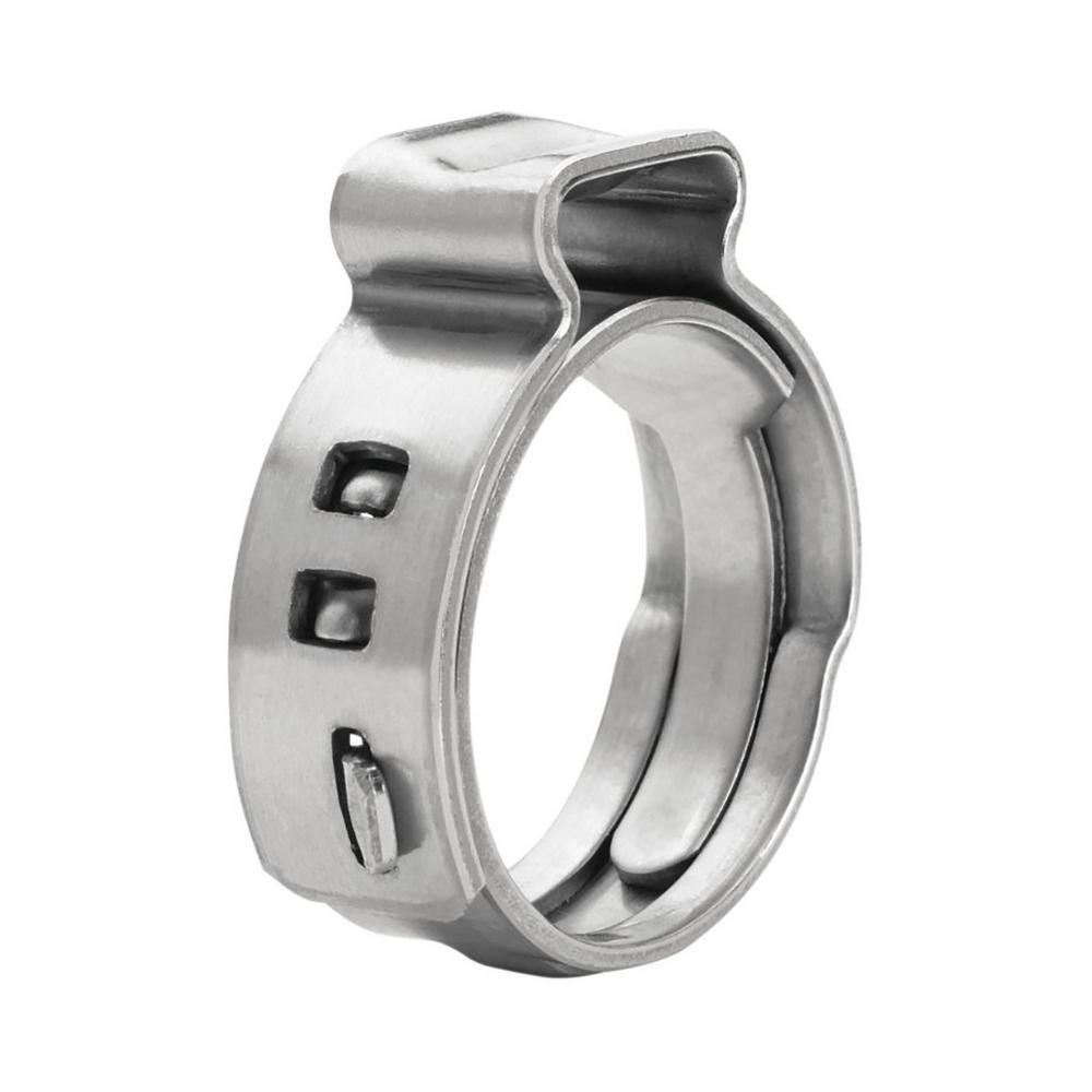 3/8 in. Stainless Steel Oetiker Style Pinch Clamps PEX Cinch Rings (50-Pack)