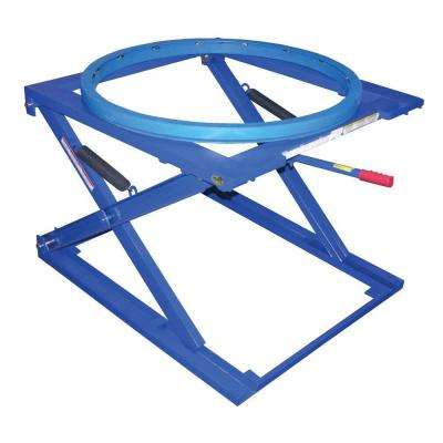 4,000 lb. Adjustable 3 Position Pallets Stand with Carousel