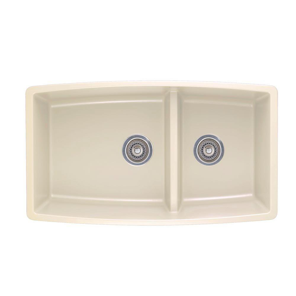 Blanco Performa Undermount Composite 33 in. Double Bowl Kitchen ...
