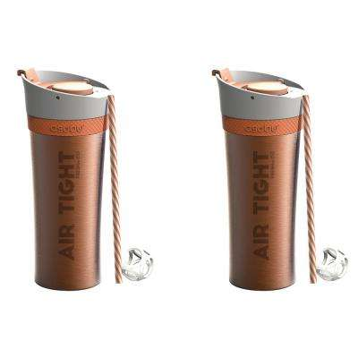 2-Piece Orange 17 oz. Fresh N Go Tumbler Set