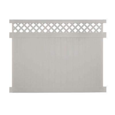 Ashton 6 ft. H x 8 ft. W Tan Vinyl Privacy Fence Panel Kit