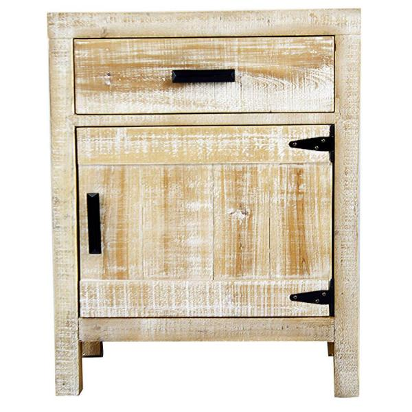 Genial HomeRoots Shelly Assembled 21.75 In. X 21.75 In. X 13.75 In. Distressed Wood