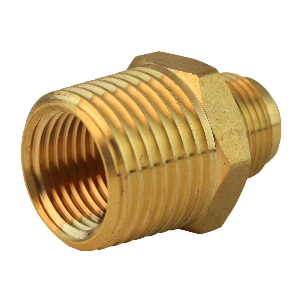 3/8 in. x 1/2 in. MIP Fine Thread FL Lead-Free Brass Flare Union