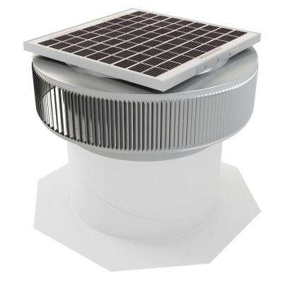 1007 CFM Mill Finish 15-Watt Solar Powered 14 in. Dia. Retrofit Attic Roof Fan