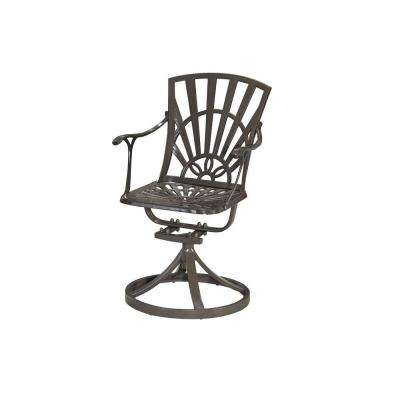 Largo Taupe All-Weather Patio Swivel Dining Chair