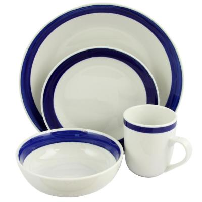 Basic Living III 16-Piece Blue Dinnerware Set
