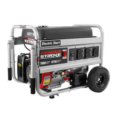 7,000 Running Watt Gasoline Powered Electric Start Portable Generator
