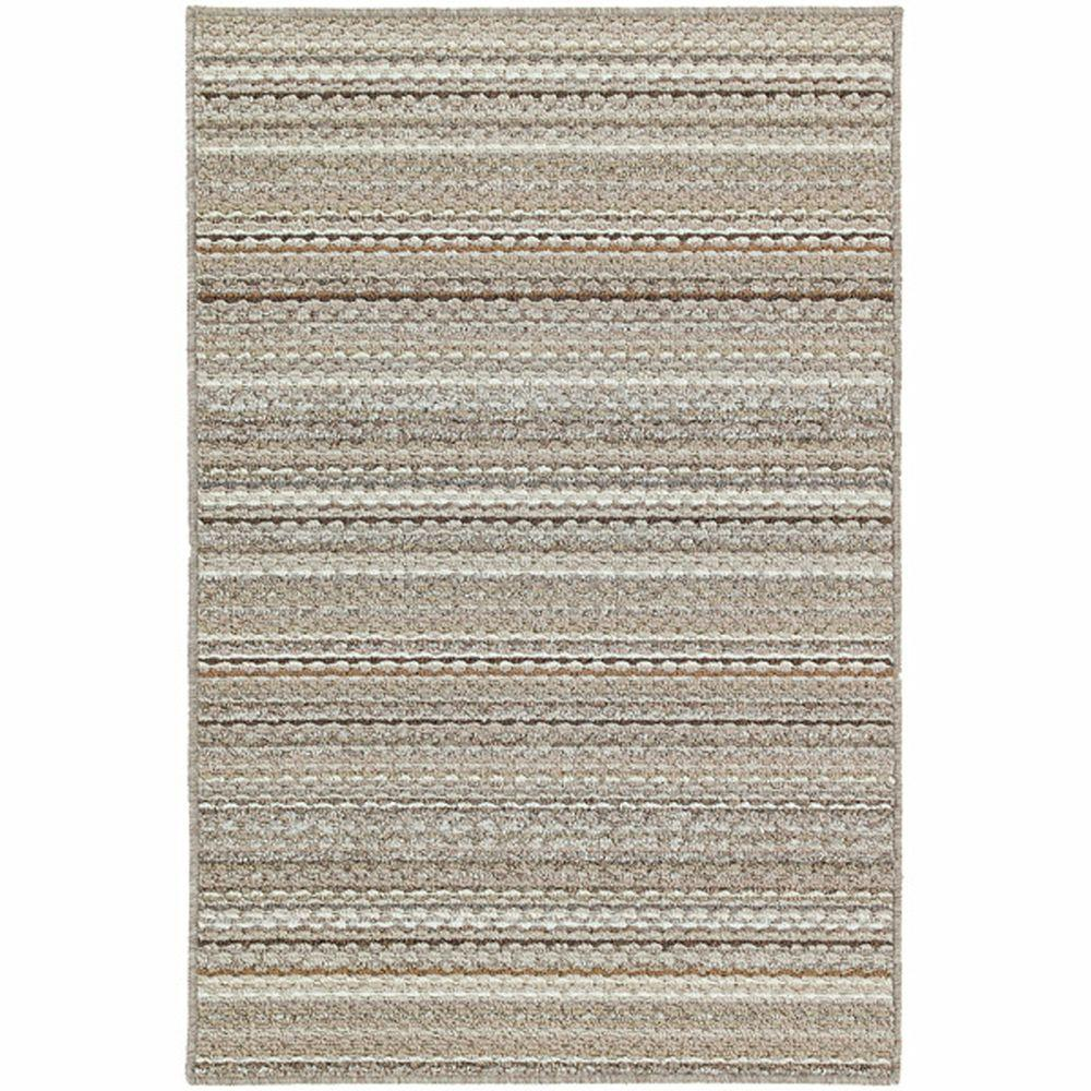 Garland Rug Carnival Stripe Earthtone 5 Ft X 7 Ft Area Rug Cv 00 0a 6084 58 The Home Depot