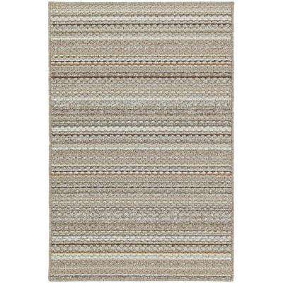 Carnival Stripe Earthtone 5 ft. x 7 ft. Area Rug