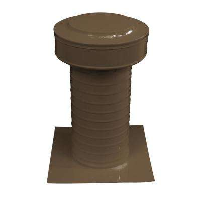 Keepa Vent 6 in. Dia Aluminum Roof Vent for Flat Roofs in Brown