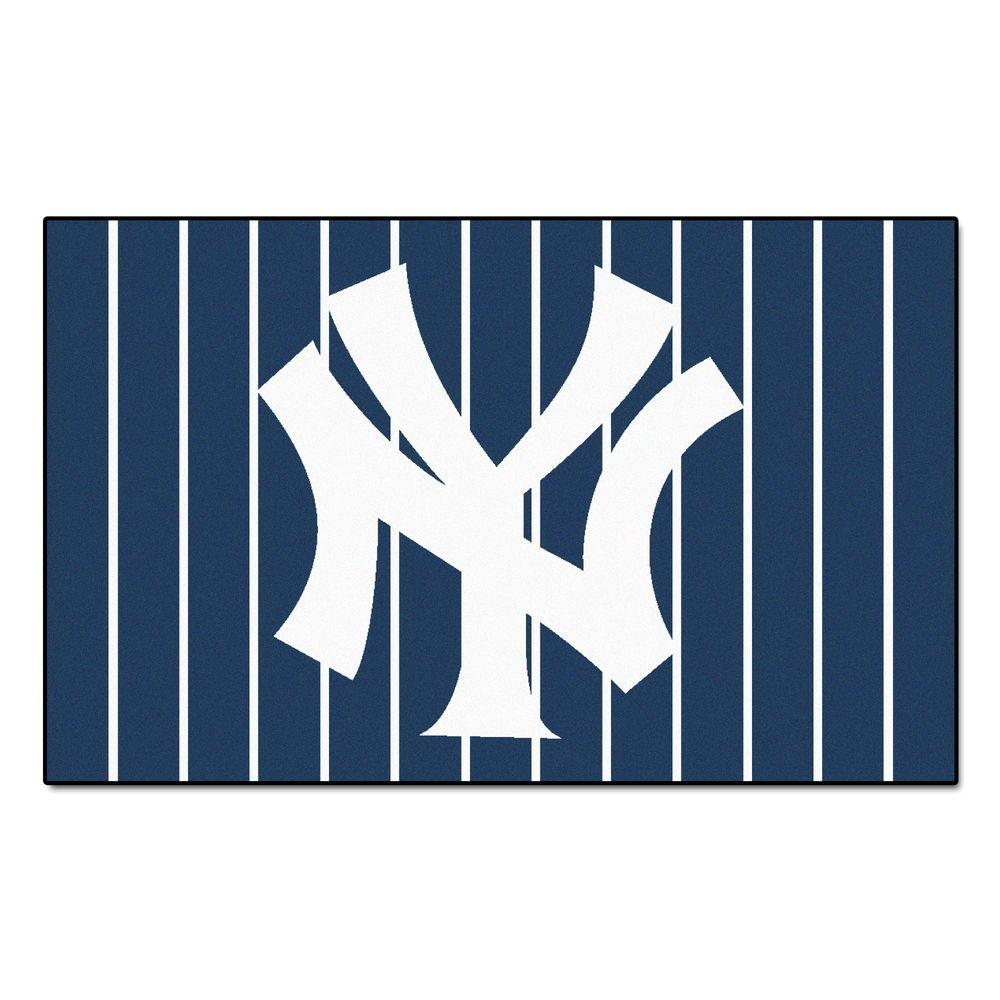 Fanmats New York Yankees 4 Ft X 6 Ft Area Rug 6961 The