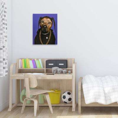 "20 in. x 16 in. Pets Rock ""Rap"" Graphic Art on Wrapped Canvas Wall Art"