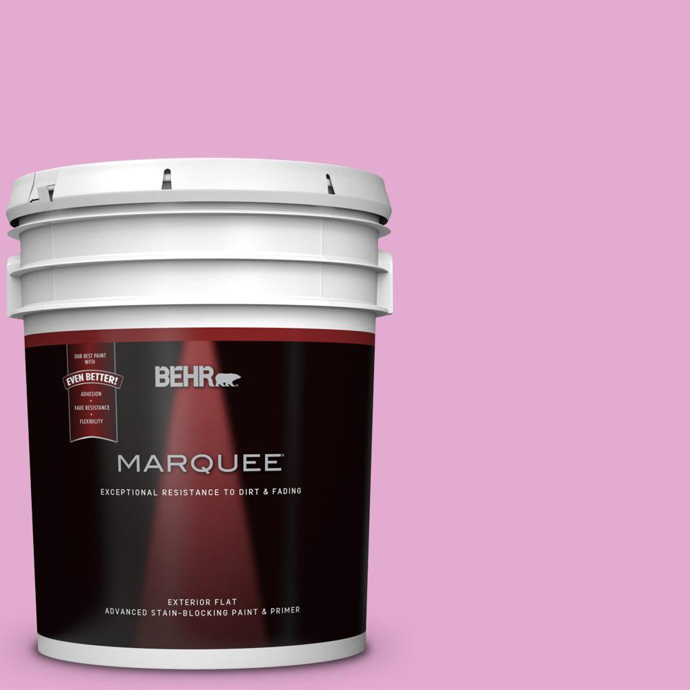 BEHR MARQUEE 5 gal. #680A-3 Pink Bliss Flat Exterior Paint and ...