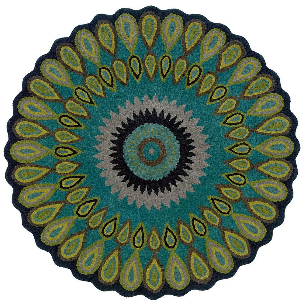 lr resources contemporary miami 3 ft plush indoor area rug