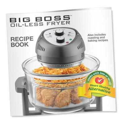Big Boss-1300 W Black Convection Countertop Oven with Built-In Timer