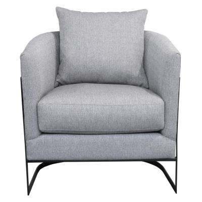 Swan Contemporary Grey Fabric Upholstered Accent Chair