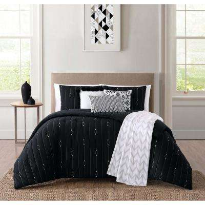 Monterey Black King Comforter Set