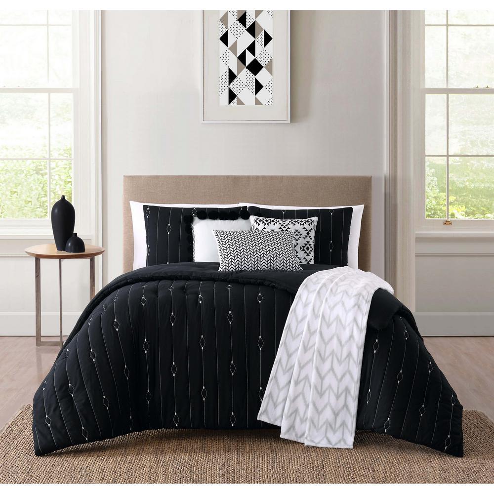 Monterey Black Queen Comforter Set