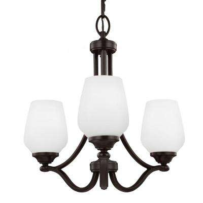Vintner 3-Light Heritage Bronze Single Tier Chandelier Shade