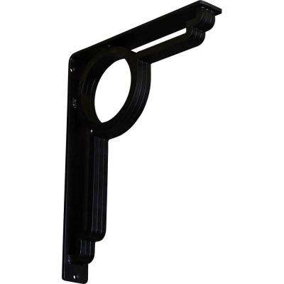 2 in. x 15 in. x 12 in. Wrought Iron Triple Center Brace Maria Bracket