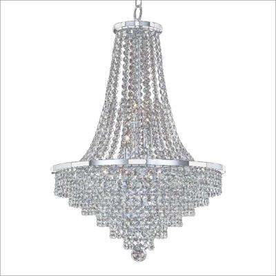Vista 9-Light Chrome and Crystal Incandescent Chandelier