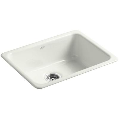 Dual Mount Cast-Iron 24 in. Single Basin Kitchen Sink in Dune
