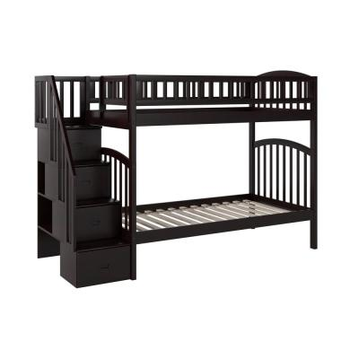 Westbrook Espresso Twin Over Twin Staircase Bunk
